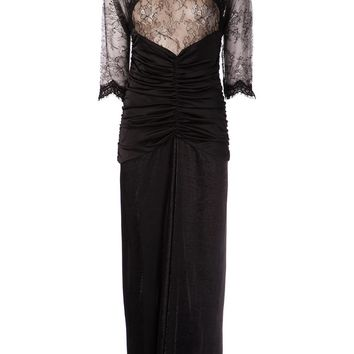 Alessandra Rich Lace Bodice Dress