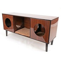 Decor TV Stand with Hidden Cat Bed