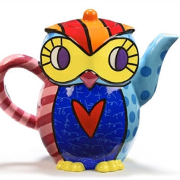 Britto Ceramic Teapot, Owl
