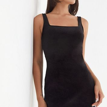 UO Hailey Square-Neck Velvet Mini Dress | Urban Outfitters Canada