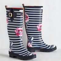 Splash the Time Rain Boot in Blossoms | Mod Retro Vintage Boots | ModCloth.com
