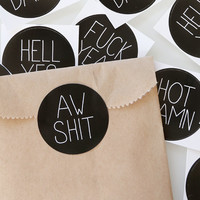 Funny Christmas Packaging Stickers. Funny Gift Wrap.