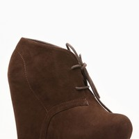 Bamboo Faux Suede Almond Toe Desert Brown Booties @ Cicihot Wedges Shoes Store:Wedge Shoes,Wedge Boots,Wedge Heels,Wedge Sandals,Dress Shoes,Summer Shoes,Spring Shoes,Prom Shoes,Women's Wedge Shoes,Wedge Platforms Shoes,floral wedges