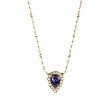JAMIE NECKLACE IN GOLD TANZANITE