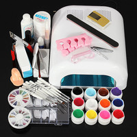 110V 36W Nail Art UV Gel Dryer Lamp Manicure Tool Kit