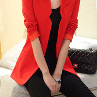 Long Sleeve Open Casual Jacket Suit