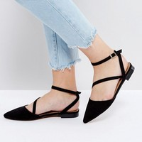 ASOS LUDLOW Wide Fit Asymmetric Pointed Ballet Flats at asos.com
