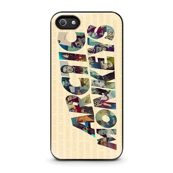arctic monkeys characters iphone 5 5s se case cover  number 1