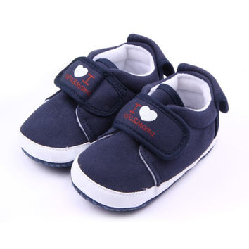 Love Mama Papa Soft Sole Baby Shoes Toddler Shoes Baby Boys Girls Firstwalkers Canvas Sneaker Newborn Shoes NW