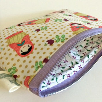 Coin Purse Coin Bag Small Cosmetic Clutch in Small Babushka