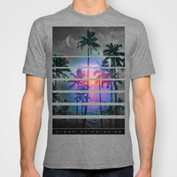 Run Away In Your Sleep & Dream of Paradise (Palm Tree Paradise) T-shirt by soaring anchor designs ⚓ | Society6