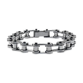 Men's Inox Jewelry Thin Motor Chain Stainless Steel Bracelet
