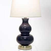 Marilyn Navy on Nickel Cordless Lamp - Made in the USA