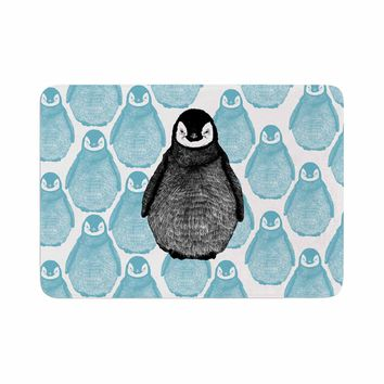 "BarmalisiRTB ""Penguin"" Black Blue Digital Memory Foam Bath Mat"