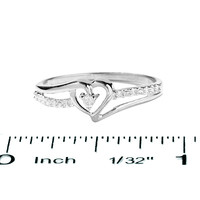 Heart-Shaped Diamond Accent Ring in 10K White Gold - View All Rings - Zales