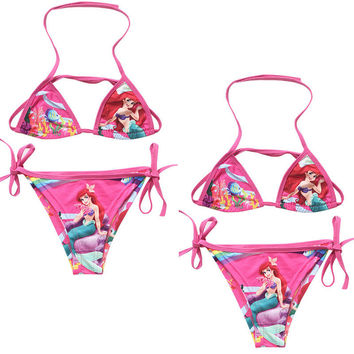 Mermaid Girls Halter Bikinis Set