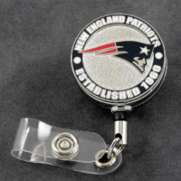 New England Patriots Retractable Badge Reel