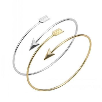 Classic Adjustable Arrow Bracelets & Bangles For Women Gold Wrapped Arrow Wire Cuff Bangles Party Gift Female Ey G016