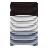 Gimme Basics Long Thick Hair Elastics - Black/White/Grey (36 Count)
