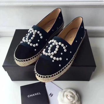 Chanel Fashion Espadrilles For Women Shoes Black G-TFDXY-XNEDX
