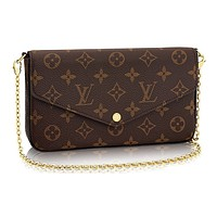 Louis Vuitton Monogram Canvas Pochette Felicie Wallets Handbag Clutch Article:M61276