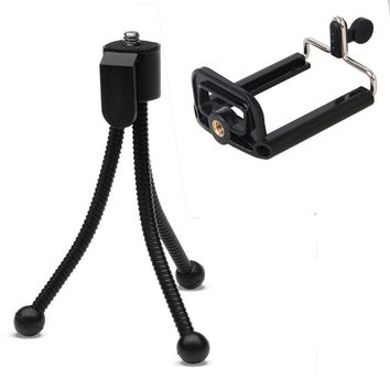 10 PCS 2 In 1 Portable Mini Metal Tripod Stand Holder Mount Adapter for mobile phones