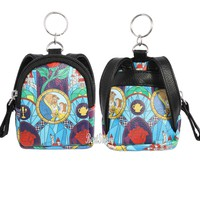 Licensed cool ONE Disney Beauty & the Beast Stained Glass Mini Backpack Keychain Key Chain NWT