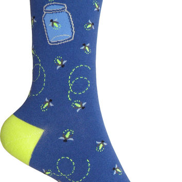 Fireflies Crew Socks in Deep Blue