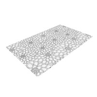 "Julia Grifol ""White Flowers"" Woven Area Rug"