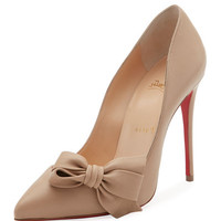 Christian Louboutin Madame Bow Red Sole Pump