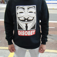Disobey Sweatshirt Urban Hip Hop Fashion Jumper Obey OFWGKTA Supreme Vendetta YMCMB sweater