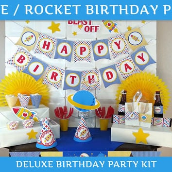 Space Party / Rocket Birthday DELUXE