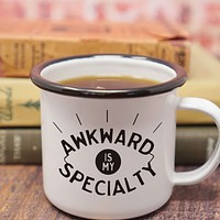 Awkward is My Specialty Enamel Mug