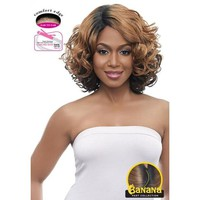 LACE FRONT SHORT CURLY WIG , BANANA SHAPE PART (LBP08)