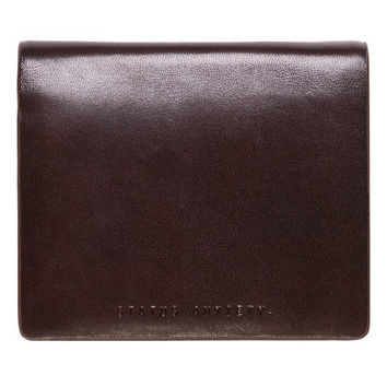 Status Anxiety Men's Nathaniel wallet in chocolate