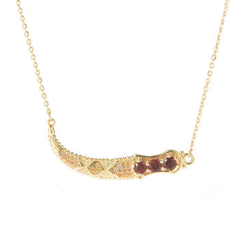 Topkapi Dagger Exotic Gemstone Bar Necklace