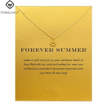 forever summer radiant sun necklace Pendant necklace Clavicle Chain Statement Necklace Women FOMALHAUT Jewelry