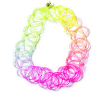The Cobra Shop Party Like It's '95 Tattoo Choker Neon Rainbow One