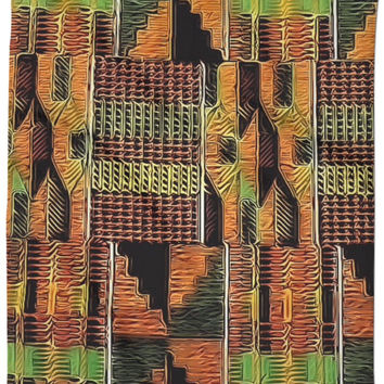 Liquid Kente Clothe Shower Curtain