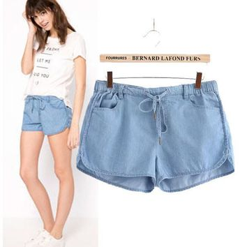 Stylish Casual Denim Women's Fashion Shorts [6047476609]