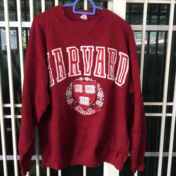 Vintage 80s 90s HARVARD University Sweatshirt / Crewneck / Spellout Medium size