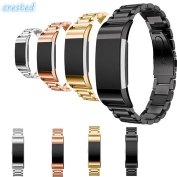 CRESTED Stainless Steel Watch band strap For Fitbit Charge 2 bracelet Smart Watch Wristwatch for Fitbit Charge2 with Connector