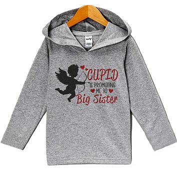Custom Party Shop Baby's Big Sister Pregnancy Reveal Valentine's Day Hoodie
