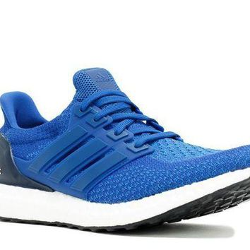 ONETOW Ready Stock Adidas Ultra Boost Navy Blue White Shoes Sport Running Shoes