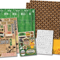 "Football Star Scrapbook Page Kit - 12"""" x 12"