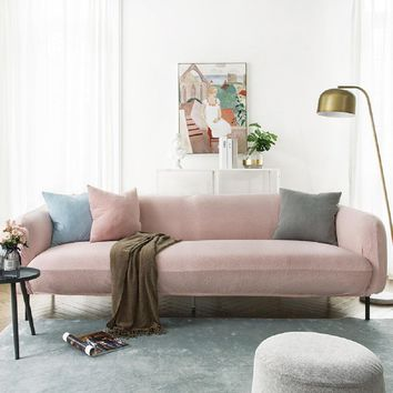 Sofa Covers Jacquard Spandex Fabric Stretch Slipcover in Pink