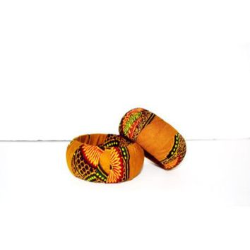 Dashiki Print  Fabric Bangle