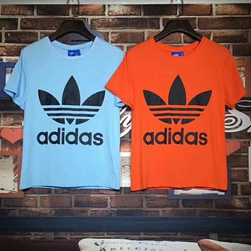 ADIDAS Clover 2018 new Odell fabric men and women couple short-sleeved T-shirt F-Great Me Store