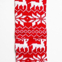 KID Holiday Leg Warmers - RED