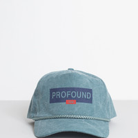 Washed Logo Rectangle Strapback in Light Moss